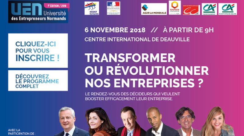 Visuel Université des Entrepreneurs Normands