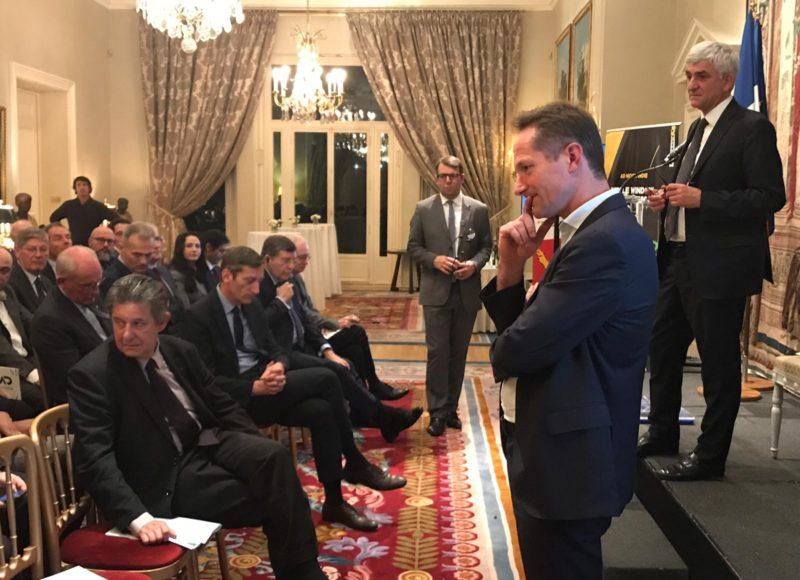 Photo rencontre avec des acteurs économiques britanniques