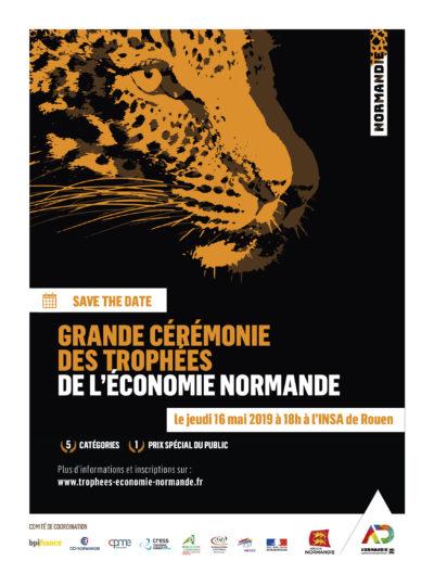 Save the date cérémonie trophées de l'économie normande