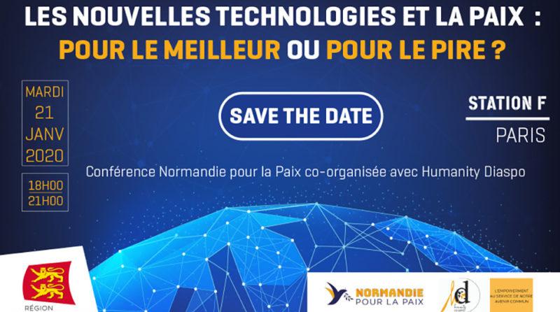 Visuel conférence Normandie pour la Paix