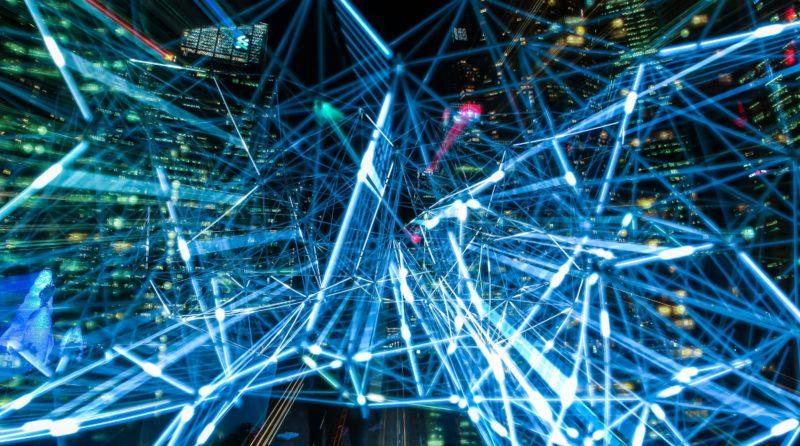 Image art abstrait lumière bleu